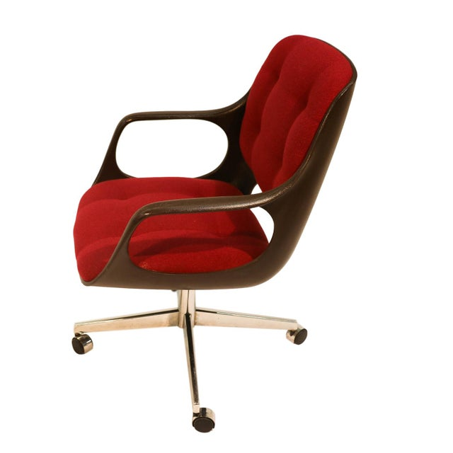 Mid Century Modern Chromecraft Herman Miller Style Office Chair For