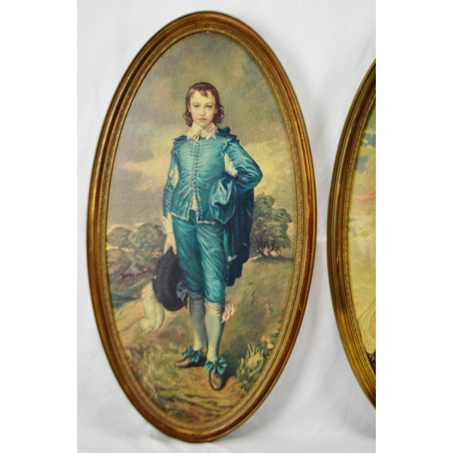 Vintage Framed Large Scale Pinkie & Blue Boy Prints on Board - a Pair For Sale - Image 4 of 13