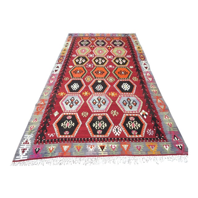 Vintage Turkish Kilim Rug - 6′6″ × 12′5″ - Image 1 of 10