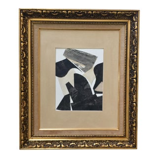 Abstract Collage Black, White, and Beige For Sale