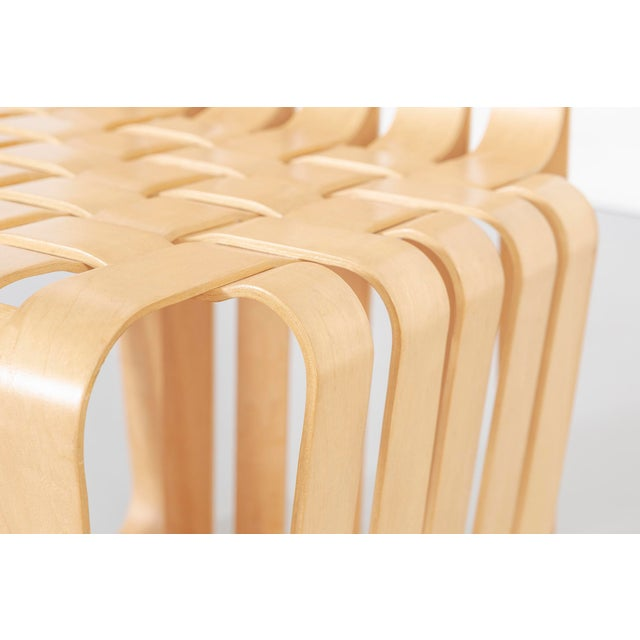 Maple Set of Six Frank Gehry High Sticking Chairs For Sale - Image 7 of 13