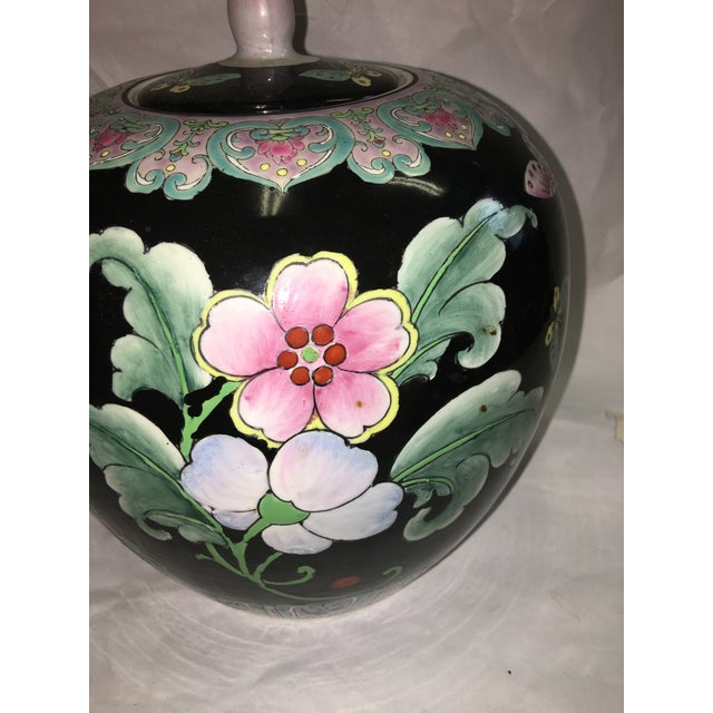 Decorative Asian Porcelain Ginger Jar For Sale In New York - Image 6 of 10