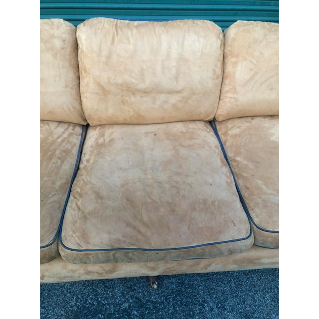 2000 - 2009 George Smith Loose Back Standard Arm Sofa For Sale - Image 5 of 8