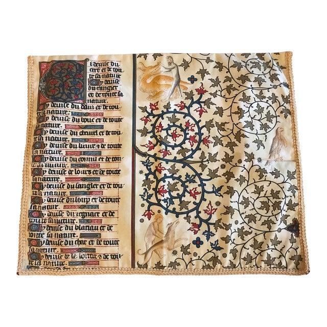 1970s Gregorian Chant Text Textile For Sale