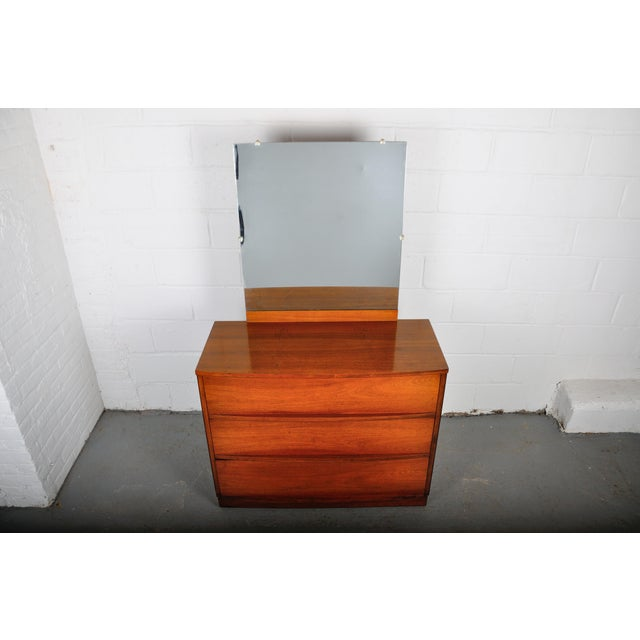 Mid-Century Modern Mid-Century Modern Walnut Vanity Dresser For Sale - Image 3 of 13