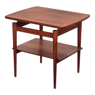 Jens Risom T-490 End Table With Shelf For Sale