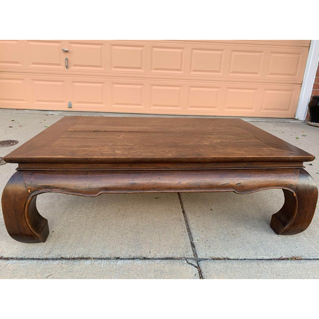 Vintage Thai Opium Bed Style Lanna Coffee Table For Sale - Image 4 of 7
