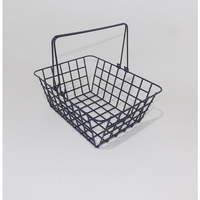 Mid-Century Modern Wire Mesh Bathroom Toiletries Basket For Sale - Image 3 of 6