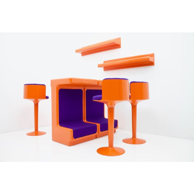Fiberglass Bar Set by Wolfgang Feierbach, Germany 1974 For Sale - Image 10 of 10