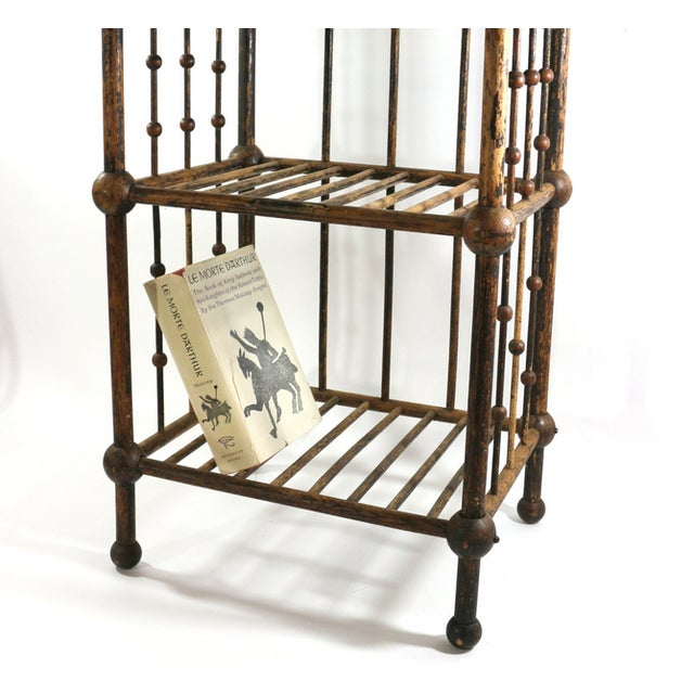 Antique 1880s Magazine & Book Stand - Image 4 of 5