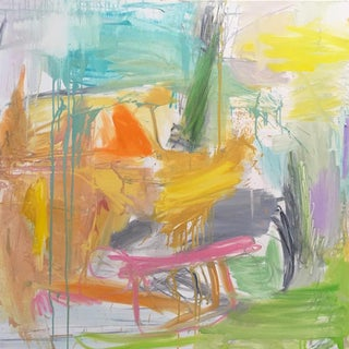 """""""Spring Field"""" by Trixie Pitts Abstract Oil Painting For Sale"""