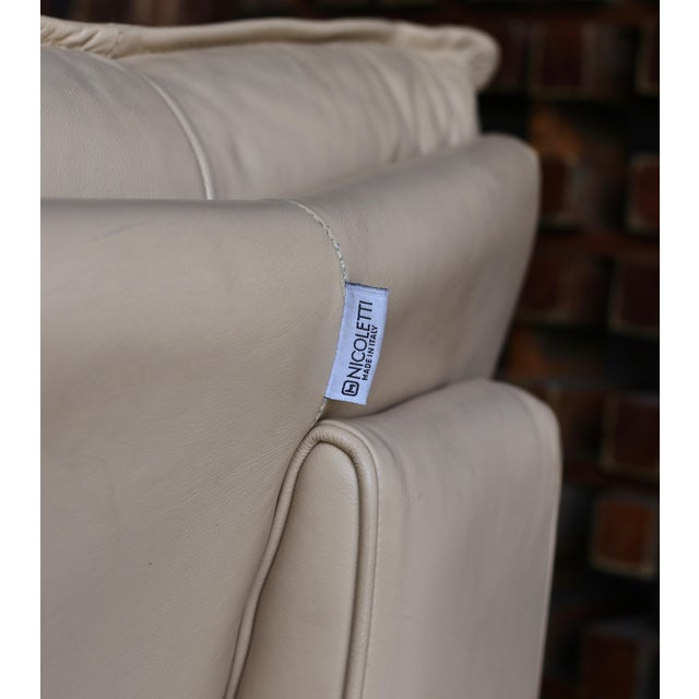 Late 20th Century Nicoletti Salotti Modern Leather Sectional Sofa Circa 1985 For Sale - Image 5 of 13