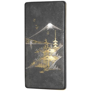 18-Karat Gold and White Gold Asian Cigarette Case For Sale
