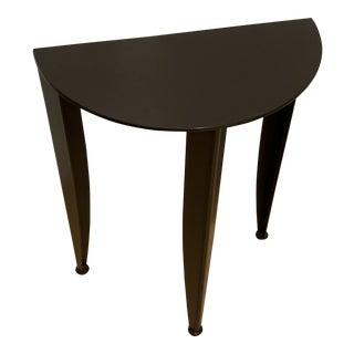 Restoration Hardware Steel Demi Lune Table For Sale