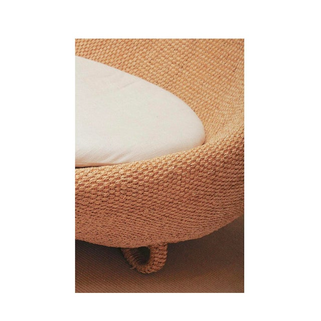 Modernist Woven Wicker and Rope Chaise Lounge For Sale - Image 10 of 12