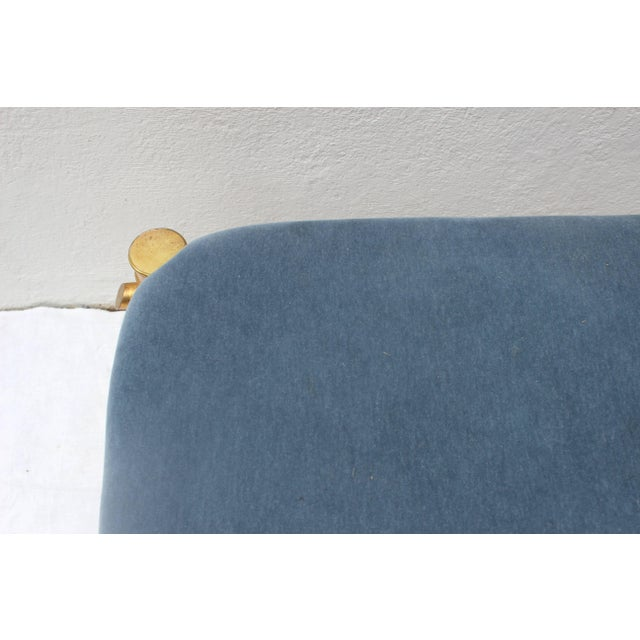 Blue Gilt Faux Bamboo Bench For Sale - Image 8 of 11