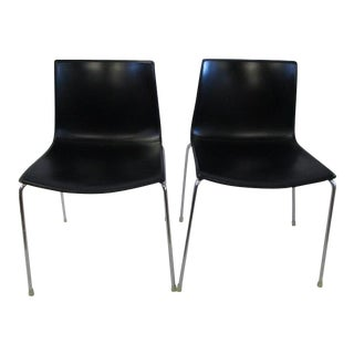 Arper Catifa Black Chairs - a Pair