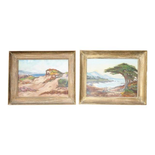 """Montaña De Oro State Park"" Oil Paintings - A Pair For Sale"
