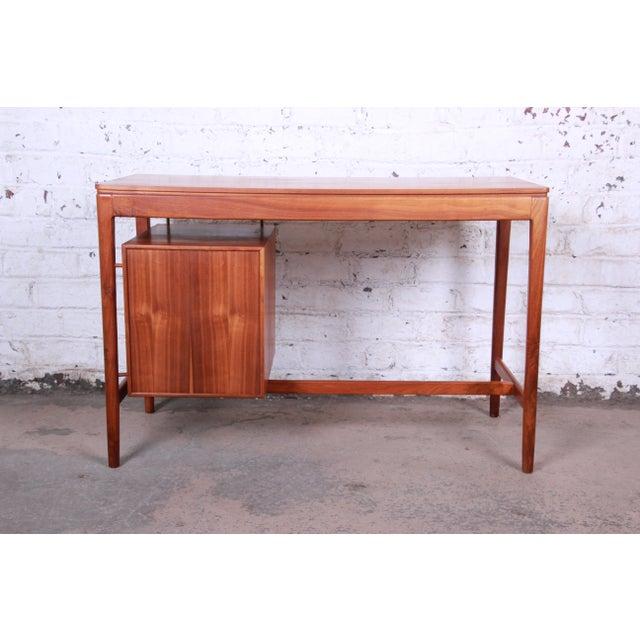 Kipp Stewart for Drexel Declaration Mid-Century Modern Walnut Desk and Chair For Sale - Image 11 of 13