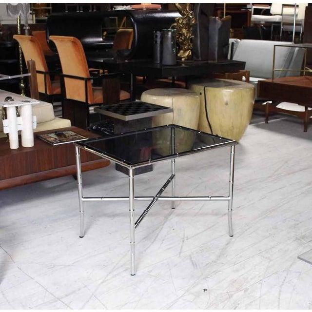 Nice mid century modern chrome side or end table.