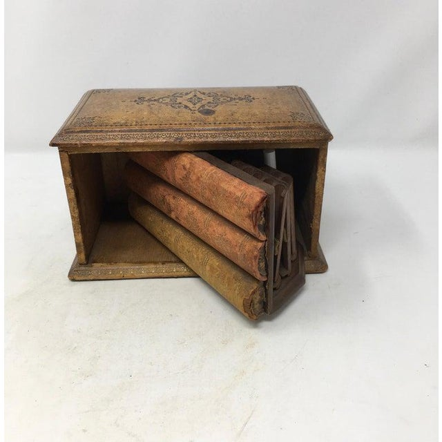 Vintage French Book Style Cigarette Box Desk Organizer For Sale In Houston - Image 6 of 12