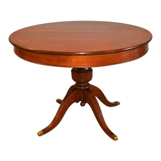 Louis Philippe Style Round Walnut Pedestal Table