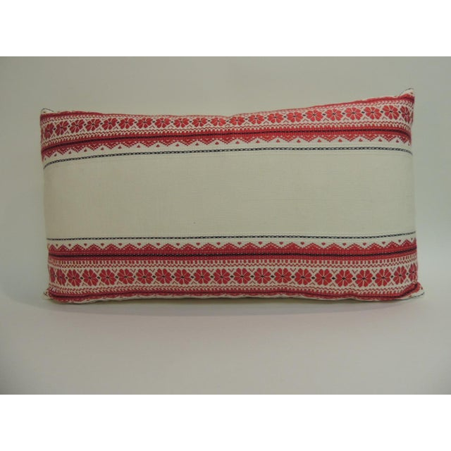 1970s Vintage Ukrainian Woven Textile Bolster Boho Chic Style Decorative Pillow For Sale - Image 5 of 5