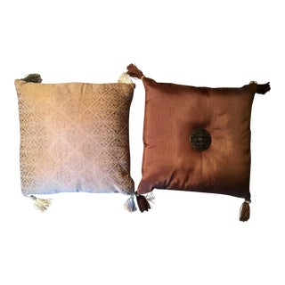 Moroccan Style Accent Pillows - A Pair