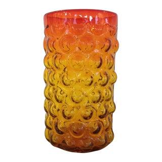 Blenko Husted Bubble Vase For Sale