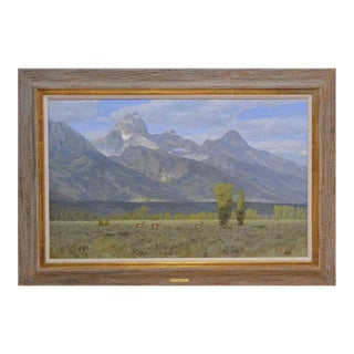 """Jackson Hole and the Tetons"" Oil Painting"