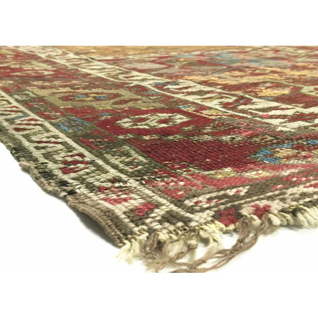 Mid-19th century Turkish Ladik Rug handwoven in the town of Ladik located in Central Anatolia north of Konya. Spring...