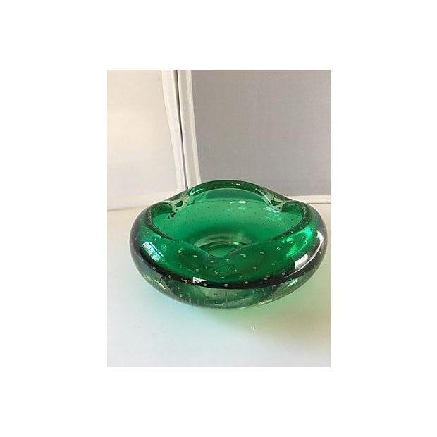 Emerald Green Murano Bowl - Image 4 of 4