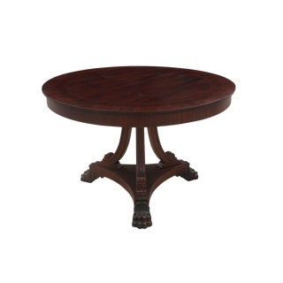 Queen Anne Style Pedestal Table For Sale
