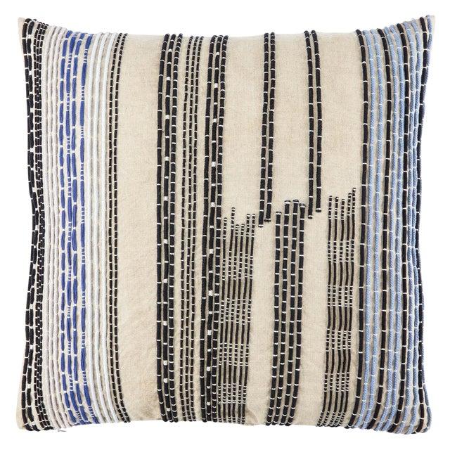 Nikki Chu by Jaipur Living Nova Cream/ Black Stripe Down Throw Pillow For Sale
