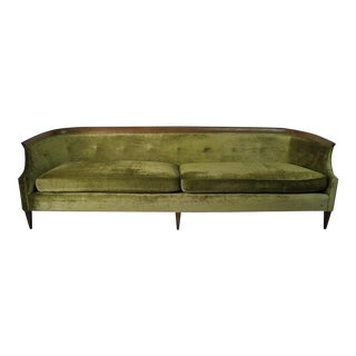 Sculpted Walnut Sofa by Erwin Lambeth for Tomlinson Furniture Co. For Sale