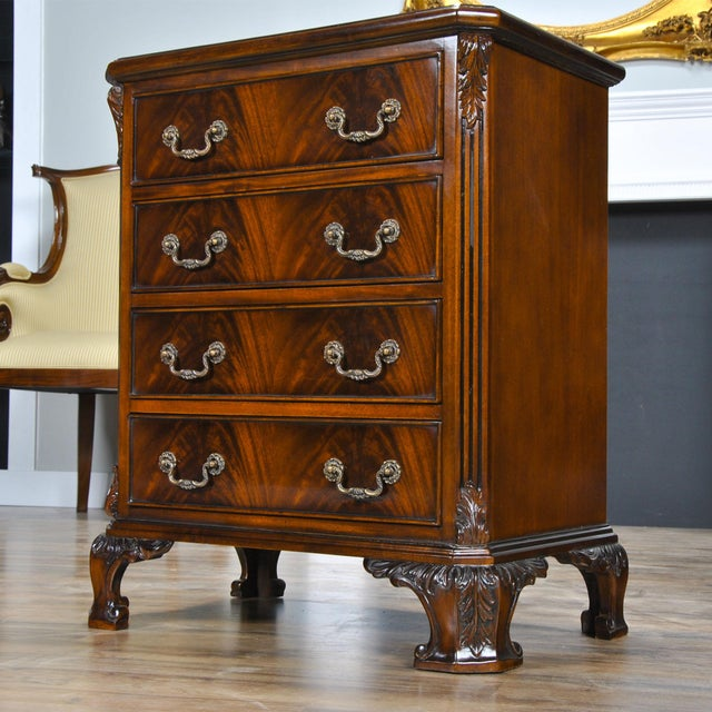 2010s Niagara Furniture Chippendale Night Stand For Sale - Image 5 of 8