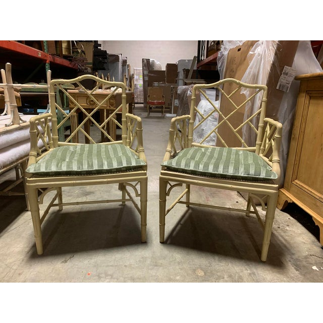 Mid-Century Modern Mid-20th Century Faux Bamboo Dining Chairs- Set of 10 For Sale - Image 3 of 13