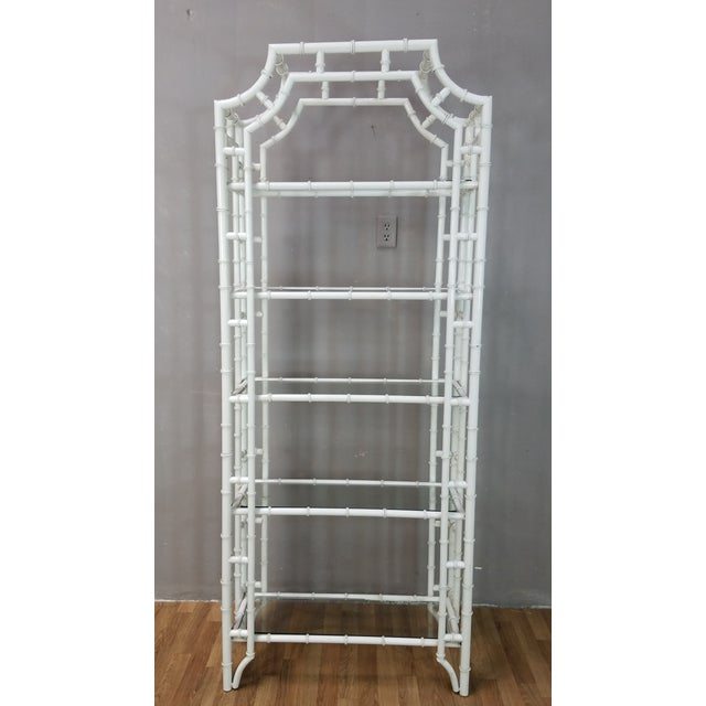 Stunning Etagere , this ultra glam etagere is the definition of Hollywood Regency! Made from metal, it has a unique white...