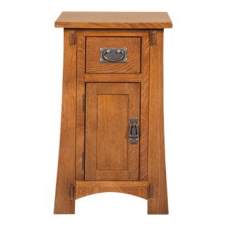 Crafters and Weavers Mission Tapered Leg Narrow Nightstand - Michael's Cherry For Sale