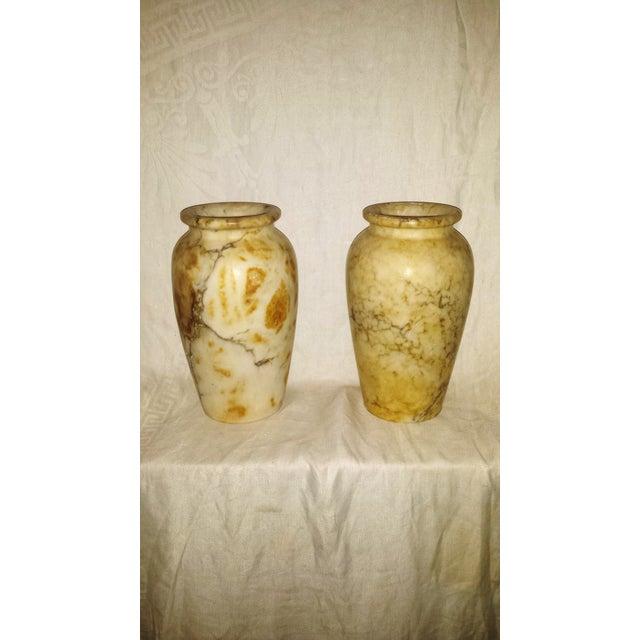 Antique Italian Alabaster Vases Pair Chairish