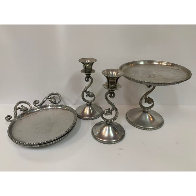 Metal Vintage Mid-Century Modern Farberware Aluminum Group Set Circa 1950 - Set of 5 For Sale - Image 7 of 7