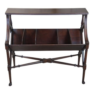 Antique Victorian Mahogany Library Book Trough For Sale