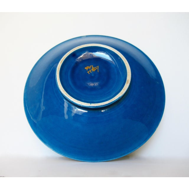 Vintage Mid-Century Aldo Londi for Bitossi Blue Ashtray, or Catchall Dish For Sale - Image 12 of 13