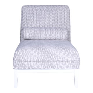 Modern Pasargad Firenze Collection Upholster Lounge Chair For Sale