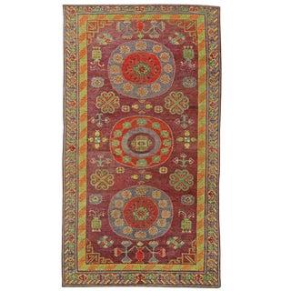 Vintage Samarkand Carpet For Sale