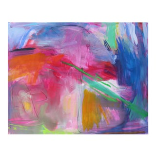 """Uluru"" by Trixie Pitts Extra-Large Abstract Landscape Painting For Sale"