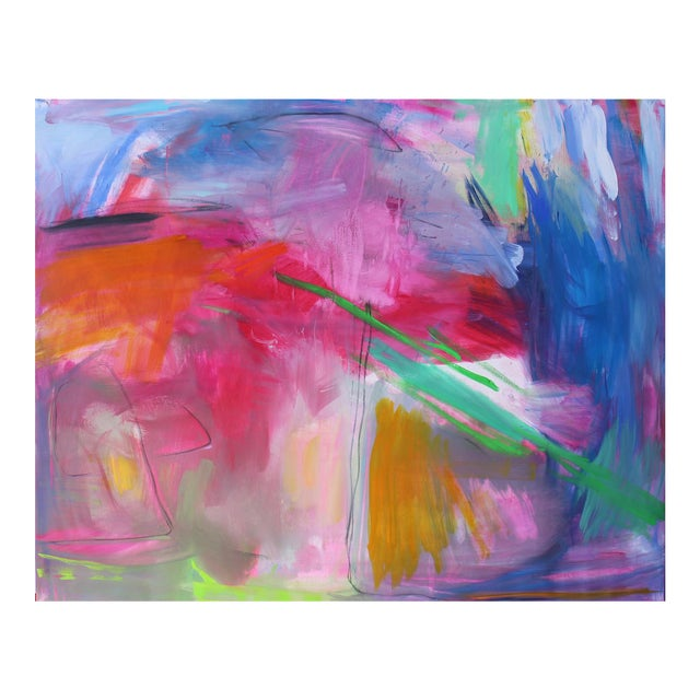 """""""Uluru"""" by Trixie Pitts Extra-Large Abstract Landscape Painting For Sale"""