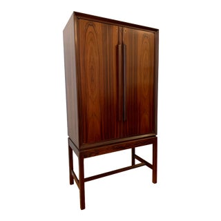 1960s Torbjørn Afdal for Bruksbo Rosewood Bar Cabinet For Sale