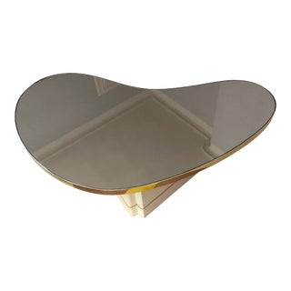 Mid-Century Modern Mirrored Kidney Coffee Table For Sale