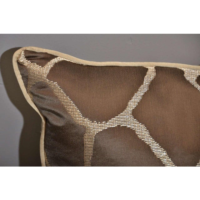 Scalamandre Brown Giraffe Print Pillows - A Pair - Image 5 of 5
